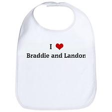 I Love Braddie and Landon Bib
