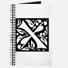 Art Nouveau Initial X Journal