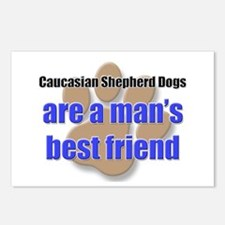 Caucasian Shepherd Dogs man's best friend Postcard