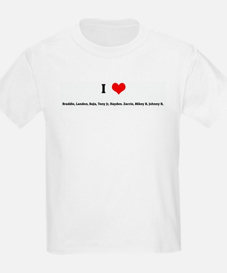 I Love Braddie, Landon, BaJa, T-Shirt