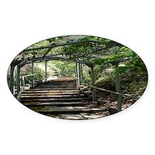 Garden Path Oval Decal