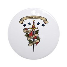 Love Midwifery Ornament (Round)