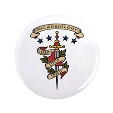 """Love Microbiology 3.5"""" Button (100 pack)"""