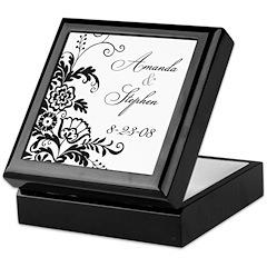 Elegant Floral Keepsake Box (personalized)