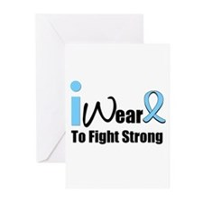 Prostate Cancer Fight Strong Greeting Cards (Pk of