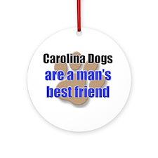 Carolina Dogs man's best friend Ornament (Round)