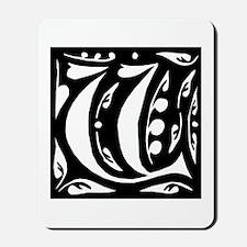 Art Nouveau Initial V Mousepad