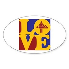 Massage Love Oval Decal