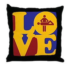Massage Love Throw Pillow