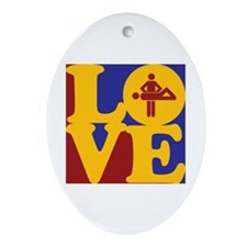 Massage Love Oval Ornament