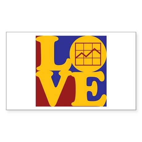Market Research Love Rectangle Sticker