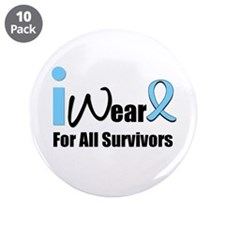"Prostate Cancer Survivors 3.5"" Button (10 pack)"