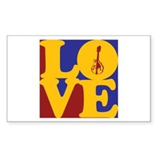 Mandolin Love Rectangle Decal