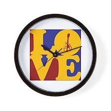 Mandolin Love Wall Clock