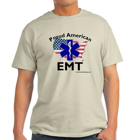 Proud American EMT Gray T-Shirt