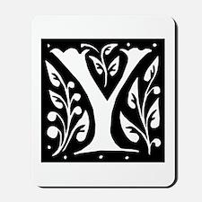 Art Nouveau Initial Y Mousepad