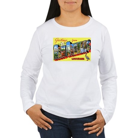 New Orleans Louisiana Greetings (Front) Women's Lo