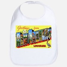 New Orleans Louisiana Greetings Bib