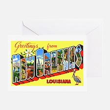 New Orleans Louisiana Greetings Greeting Card