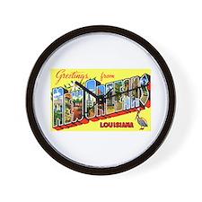 New Orleans Louisiana Greetings Wall Clock
