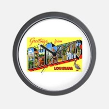 New Orleans Louisiana Greetings Wall Clock
