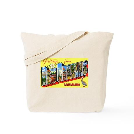 New Orleans Louisiana Greetings Tote Bag