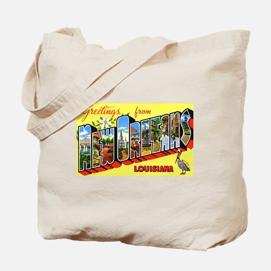 New Orleans Louisiana Greetings Tote Bag