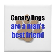 Canary Dogs man's best friend Tile Coaster