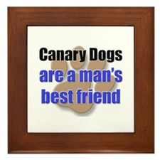 Canary Dogs man's best friend Framed Tile