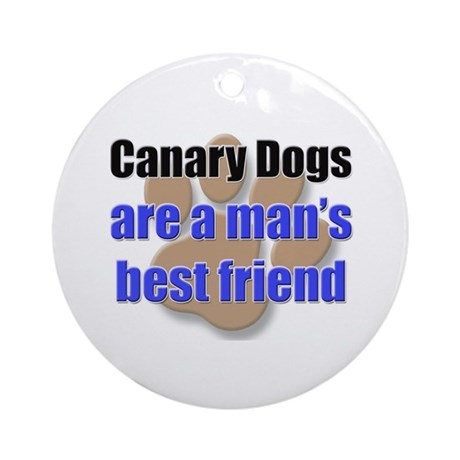Canary Dogs man's best friend Ornament (Round)
