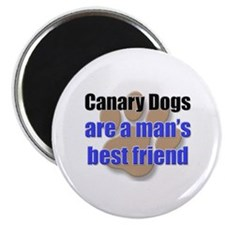 Canary Dogs man's best friend Magnet