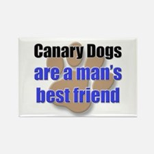 Canary Dogs man's best friend Rectangle Magnet (10
