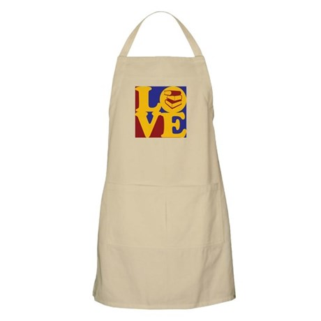 Library Work Love BBQ Apron