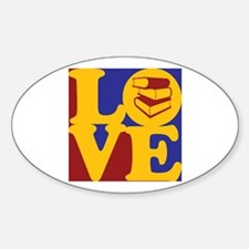 Library Work Love Oval Decal