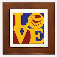 Library Work Love Framed Tile