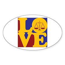 Law Love Oval Sticker (50 pk)