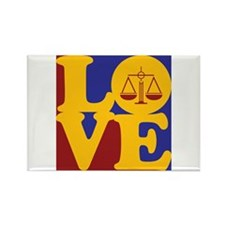 Law Love Rectangle Magnet