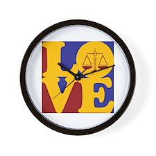 Law Love Wall Clock