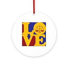 Law Love Ornament (Round)