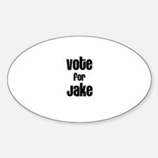 Vote for Jake Oval Decal
