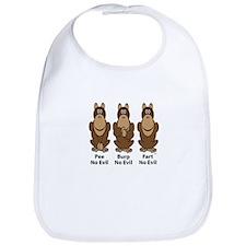 No Evil Monkeys Bib