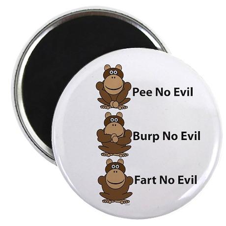 No Evil Monkeys Magnet