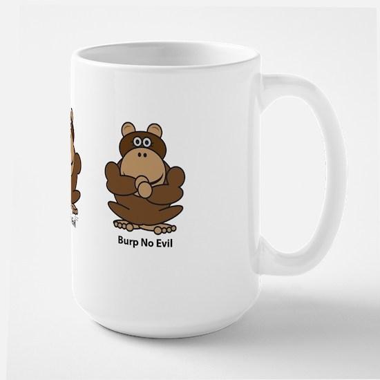 No Evil Monkeys Large Mug