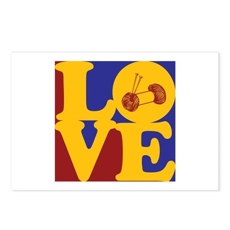 Knitting Love Postcards (Package of 8)