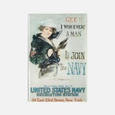 Vintage Navy Girl Rectangle Magnet