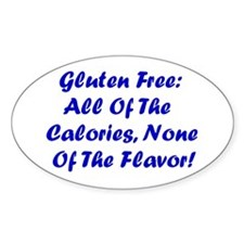 Gluten Free: No Flavor Oval Decal