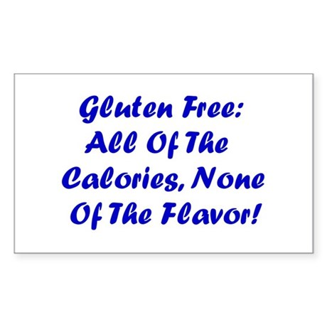 Gluten Free: No Flavor Rectangle Sticker