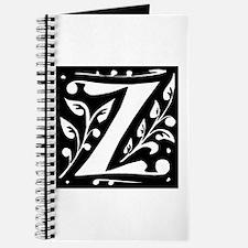 Art Nouveau Initial Z Journal