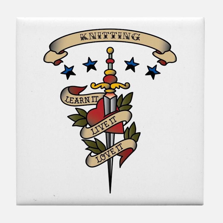 Love Knitting Tile Coaster
