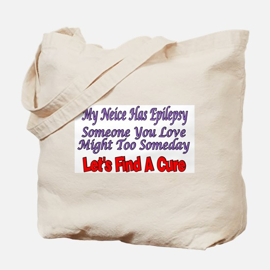 My Neice Has Epilepsy Find A Cure Tote Bag